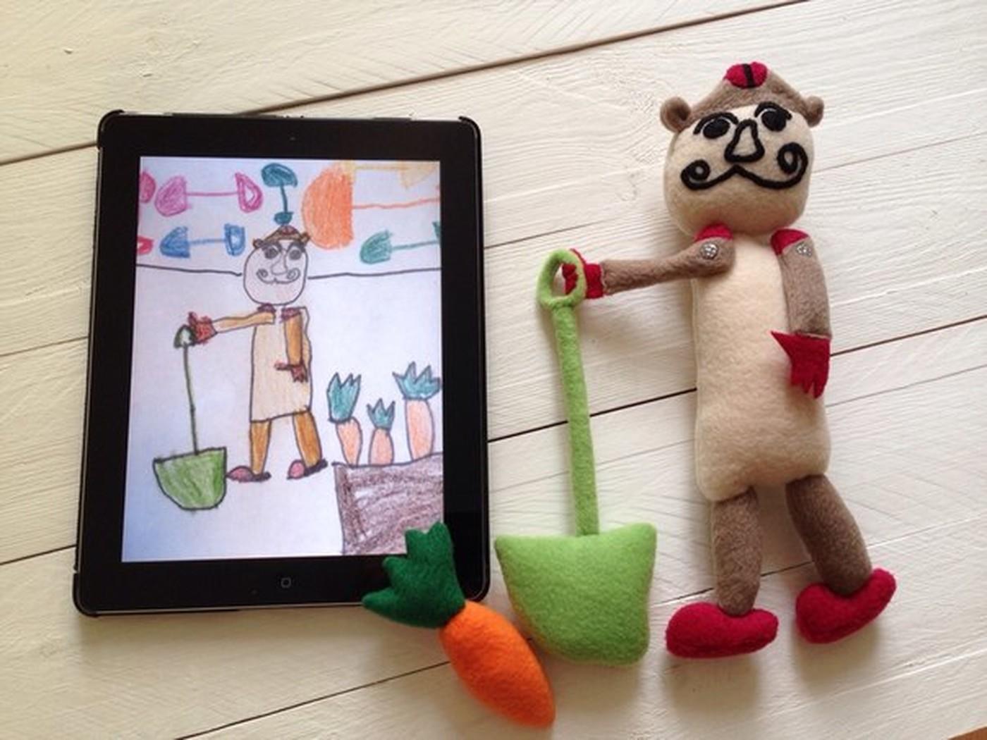 игрушка по детскому рисунку